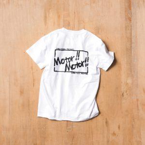 Motor!!Motor!! T-shirts  – モーター!!モーター!!Tシャツ  WHITE-